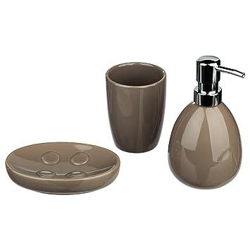 Kit de 3 accessoires de salle de bain - Look moderne - Coloris ...