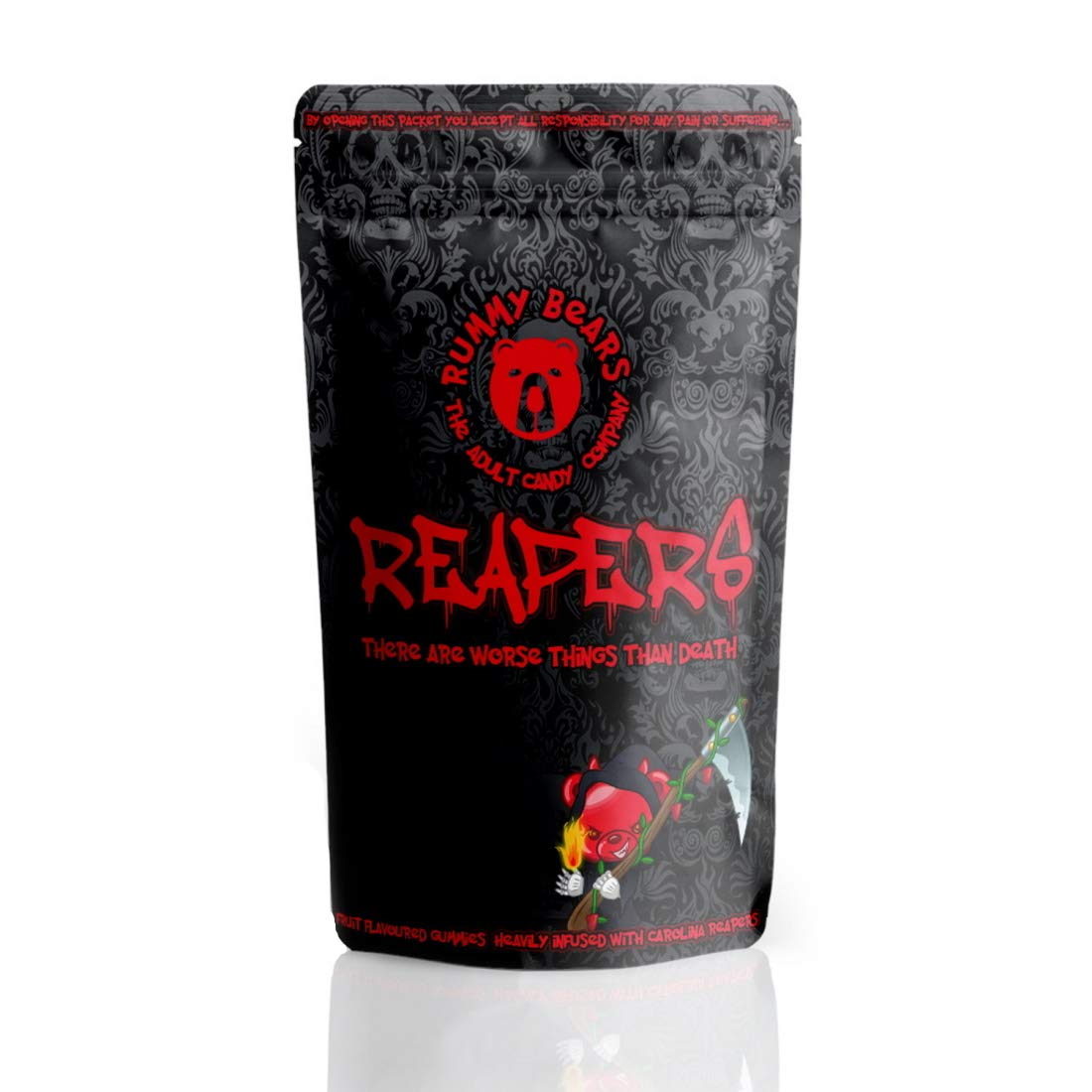 Rummy Bears Reapers -World's Hottest Gummy Bears - Carolina Reaper Extremely Hot Chilli Sweets