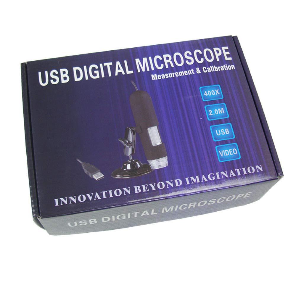 USB-Digitalmikroskop//Lupe 200-fach Messbar//Als Kamera Verwendbar//Elektronische Optische Verst/ärkung,A