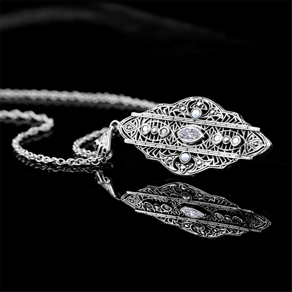 YHDBH 925 Sterling Silver Ladies Pendant Necklaces with Natural Pearl Zircon Jewelry