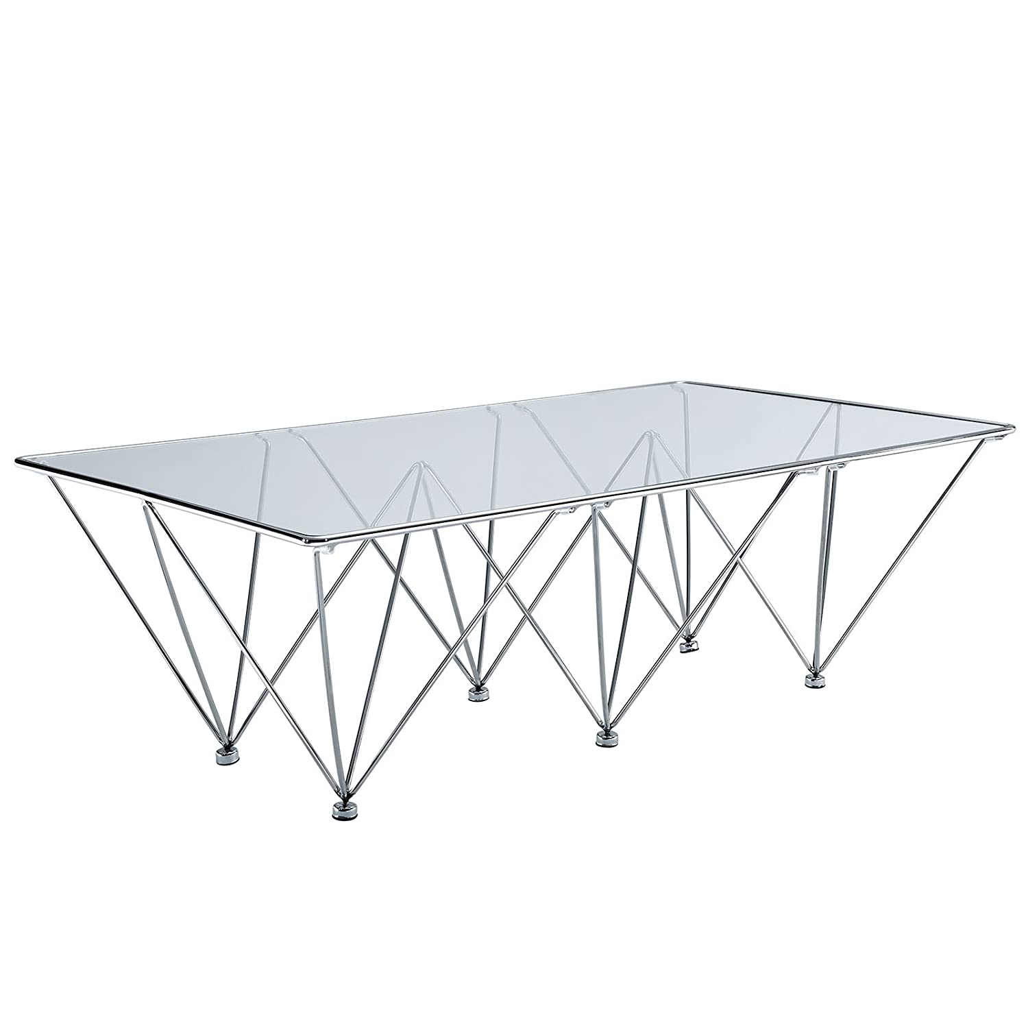 Amazon Modway Prism Rectangle Coffee Table in Clear Kitchen