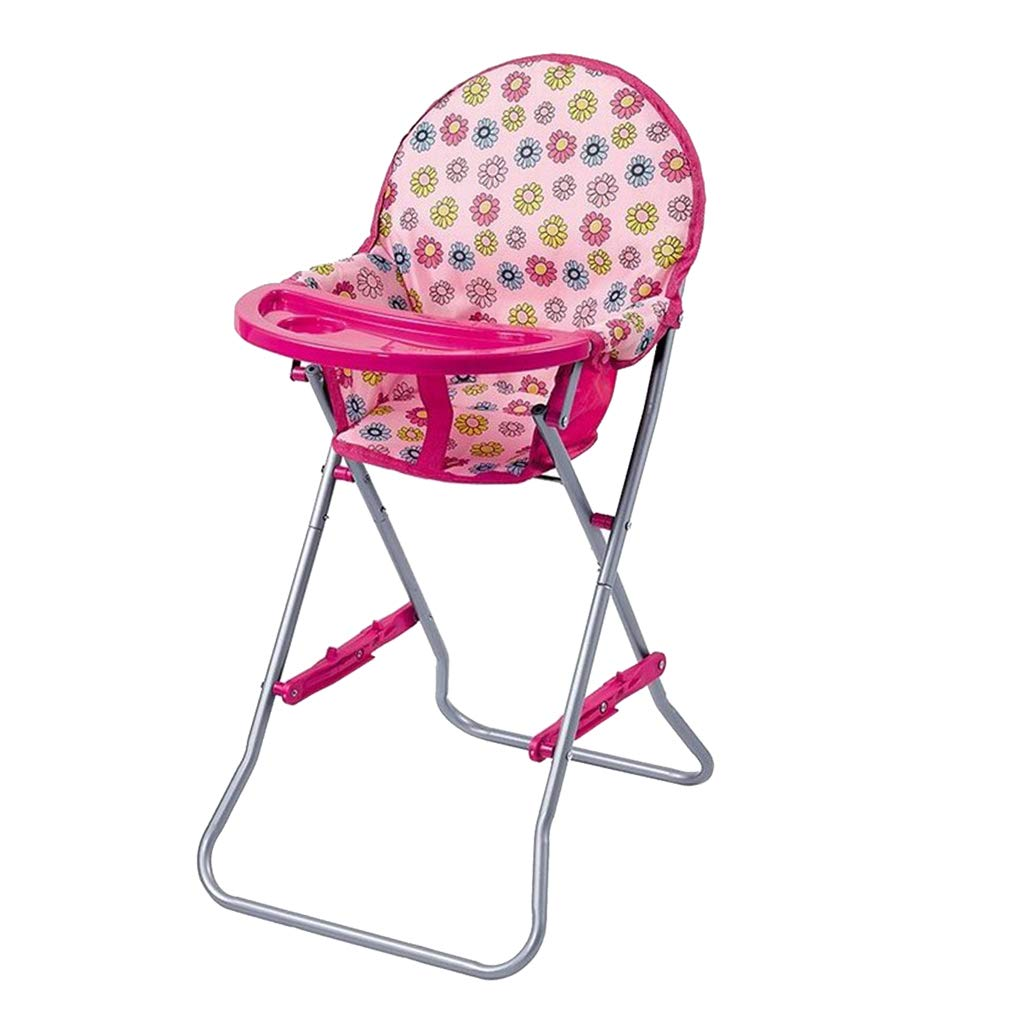 Fityle ABS Plastic Baby High Chair Simulation Furniture Toy Reborn Doll for MellChan Baby Doll Kids Children Role Play