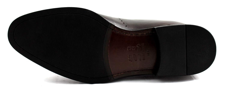 CANNERI Herren Herren Herren Chelsea Stiefel Stiefel - Dunkelbraun - 9301- Freizeit & Business - Halbstiefel - Stiefelette aus Leder mit Design undStill dbb1a8