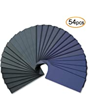 54pcs Wet Dry Sandpaper Assorted 3000/2500/2000/1500/1200/1000 Grit for Automotive Sanding by V-Story