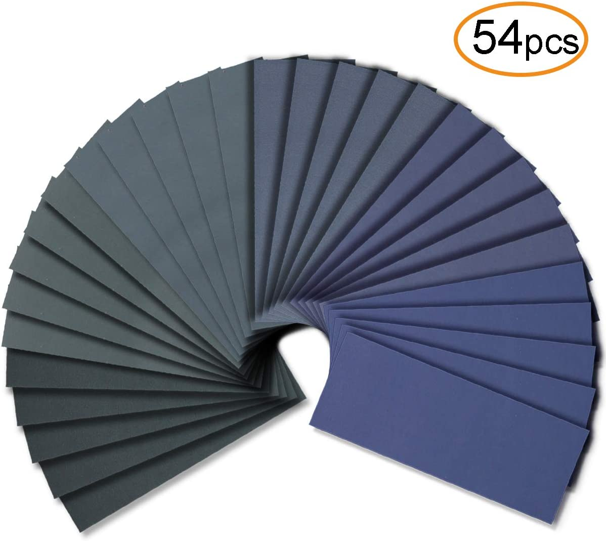 54pcs Wet Dry Sandpaper Assorted 3000/2500/2000/1500/1200/1000 Grit for Automotive Sanding: Industrial & Scientific