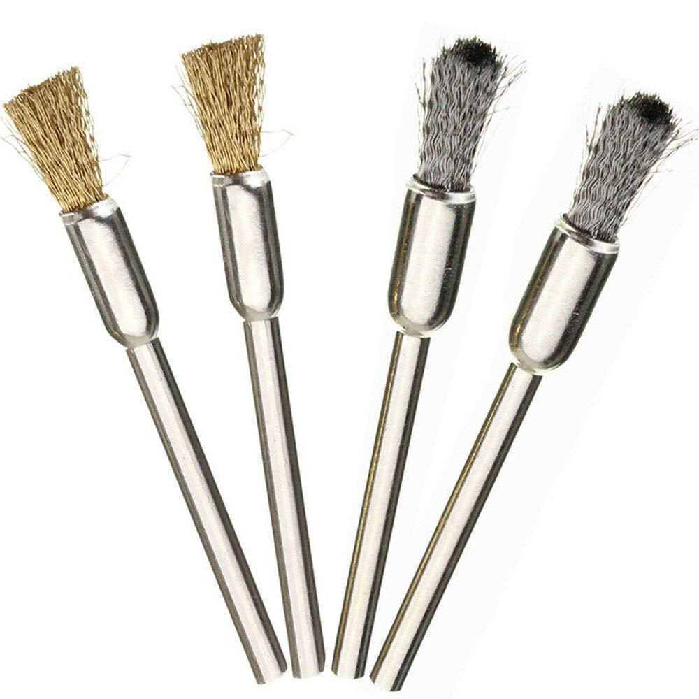 outils rotatifs en acier /à tige Craftsman brosses rondes et kit de polissage Chicago avec brosses de nettoyage pour Dremel 36PCS Brosses m/étalliques