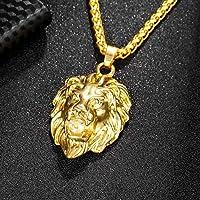 Pingente de Hip Hop fashion da DSstyles, pingente masculino em forma de leão diamante, banhado a ouro, Hip Hop