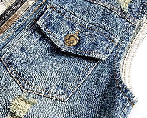 À Hommes Slim Sans Blau Veste Capuche Jeans Pour Essentiel Jean En Manches xgqZwpHz