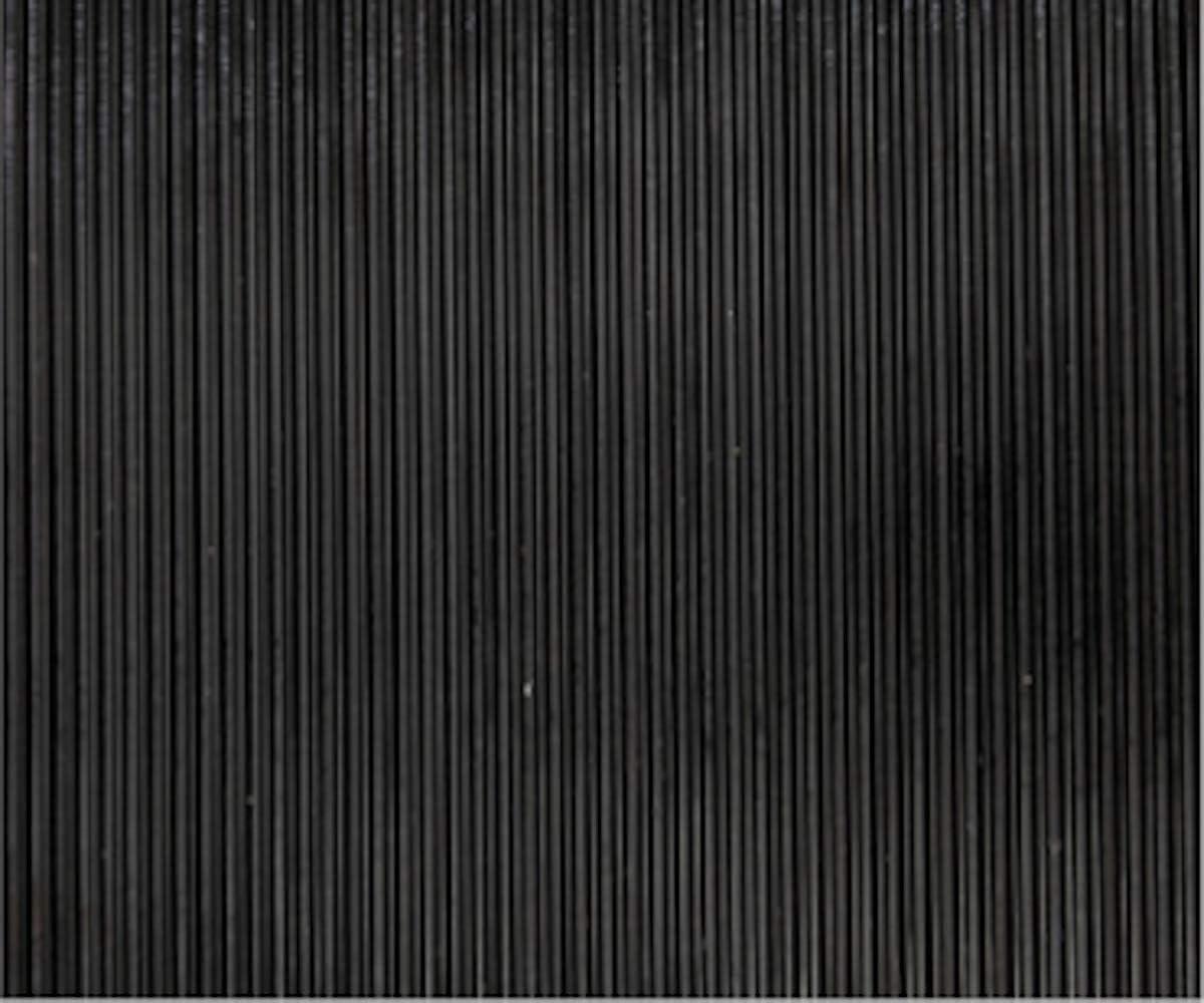 100/_x/_100 CM Suelo de Goma PVC Negro 1.2mm Dise/ño Estrias Revestimiento de Caucho Antideslizante