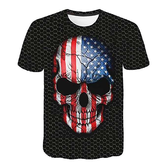 refulgence Mens USA Flag Tri Blend Tshirt Heather Grey American Warrior Flag Skull Military T-Shirt at Amazon Womens Clothing store: