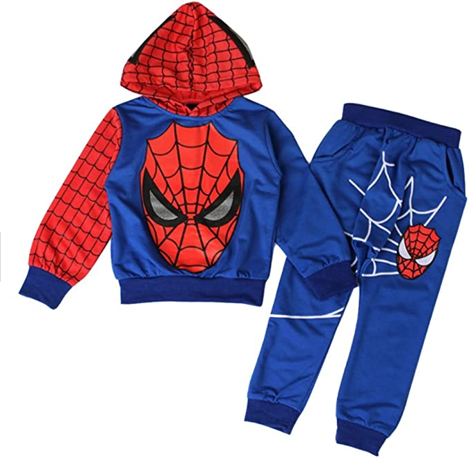 Kinder Jungen Spiderman Trainingsanzug Sweatshirt Jacke Hoodie Hose Outfit Sets