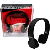 Wireless Bluetooth Headphones with NFC - Puresounds Foldable Wireless Head Phones (Black) with Built in Microphone