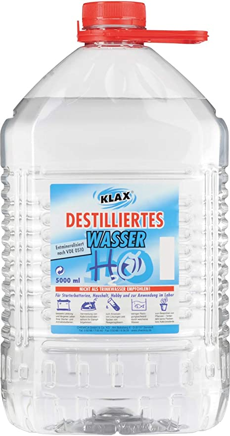 Eau Distillée 5 L Amazon Fr Jardin
