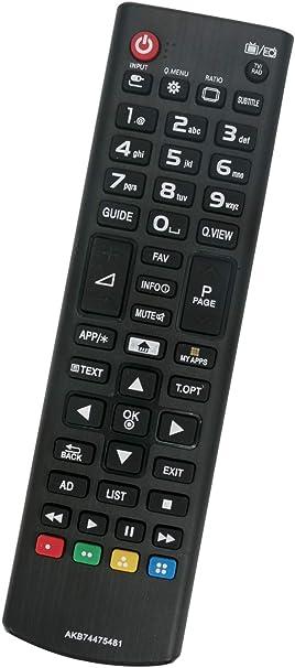 ALLIMITY AKB 74475481 Reemplace el Control Remoto por LG LCD LED TV 43LF590V 43LH570V 43UF680V 49UF6809 49UH600V 55UF680V 55UH600V 65UF680V 43LH560V 43UF6407 49UF6807 49UF685V 55UF6809: Amazon.es: Electrónica