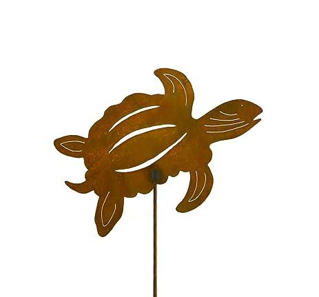 Sea Turtle Decorative Metal Garden Stake, Lawn, Garden, Patio Decor, Yard  Art