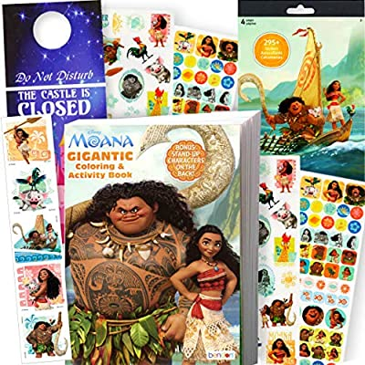 - Amazon.com: Disney Coloring Books For Kids With Stickers - (Moana Coloring  Book And Moana Stickers): Toys & Games