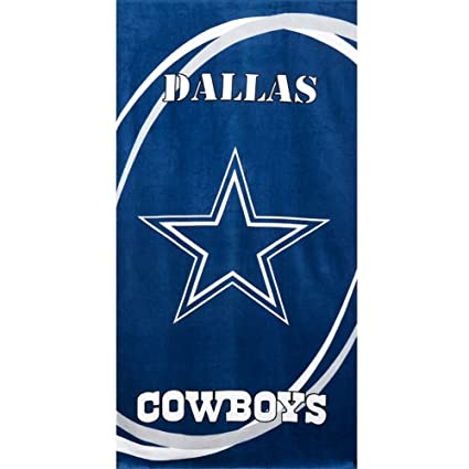 Amazon.com  Dallas Cowboys - Logo Swoosh Velour Beach Towel - Dark ... 1ae2c6739af3