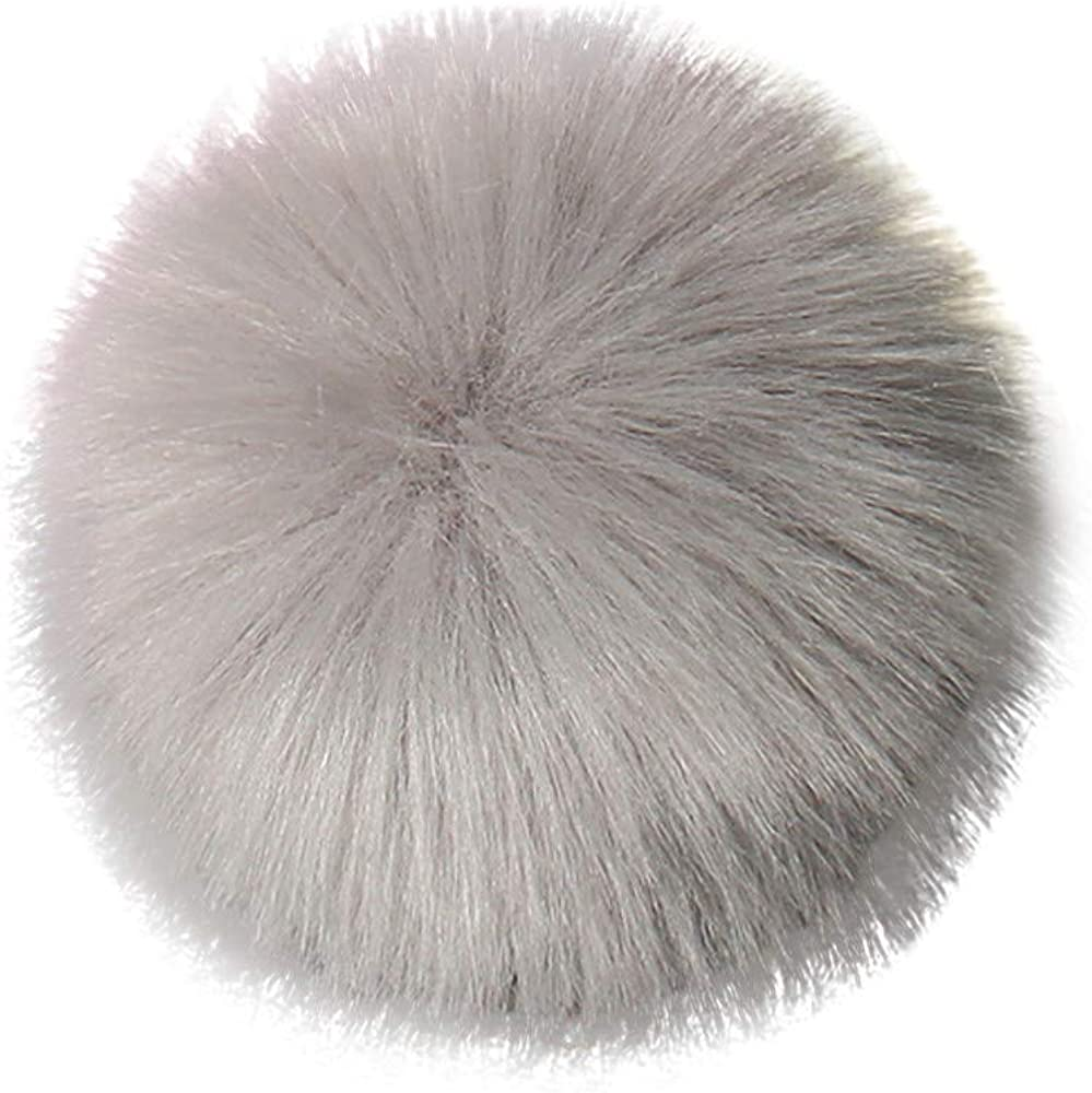 Culater/® DIY 8 Pcs Soft Faux Fox Fur Poms Ball for Hats Accessories,9cm Fluffy Artificial Faux Fur Pom Pom Ball for Winter Beanie Hat