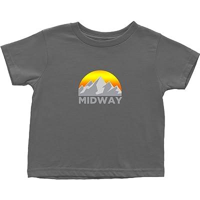 Tenn Street Goods Midway, Utah Faded Mountain Sunset - Unisex Toddler T-Shirt