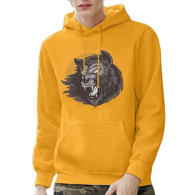 Internet-Suéter de Manga Larga con Capucha para Hombre, Sudadera, Estampado 3D, patrón de Cabeza de león(S-3XL): Amazon.es: Ropa y accesorios