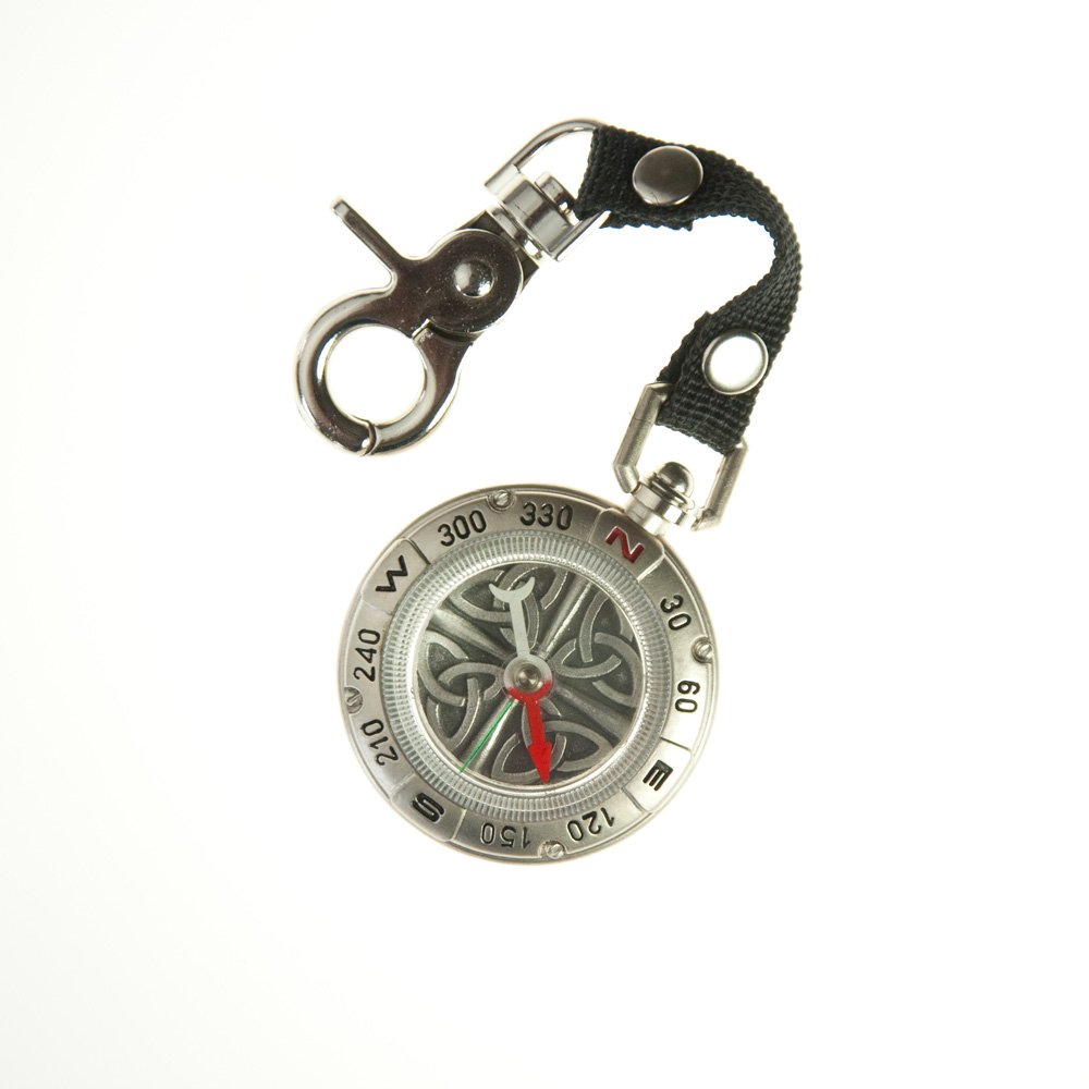 Mullingar Pewter Durable And Water Resistant Compass With Celtic Knot Design