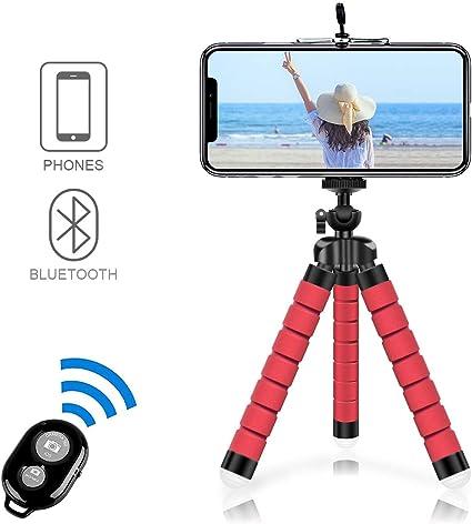 comprar Alfort Mini Trípode, Trípode Móvil Flexible 360°Rotación Teléfonos de Soporte con Control Remoto Portátil Trípode para iPhone 8/8 Plus/Samsung S7 Edge/Huawei P10/Mate 9 Pro y Otros iOS/Android (5.5'')