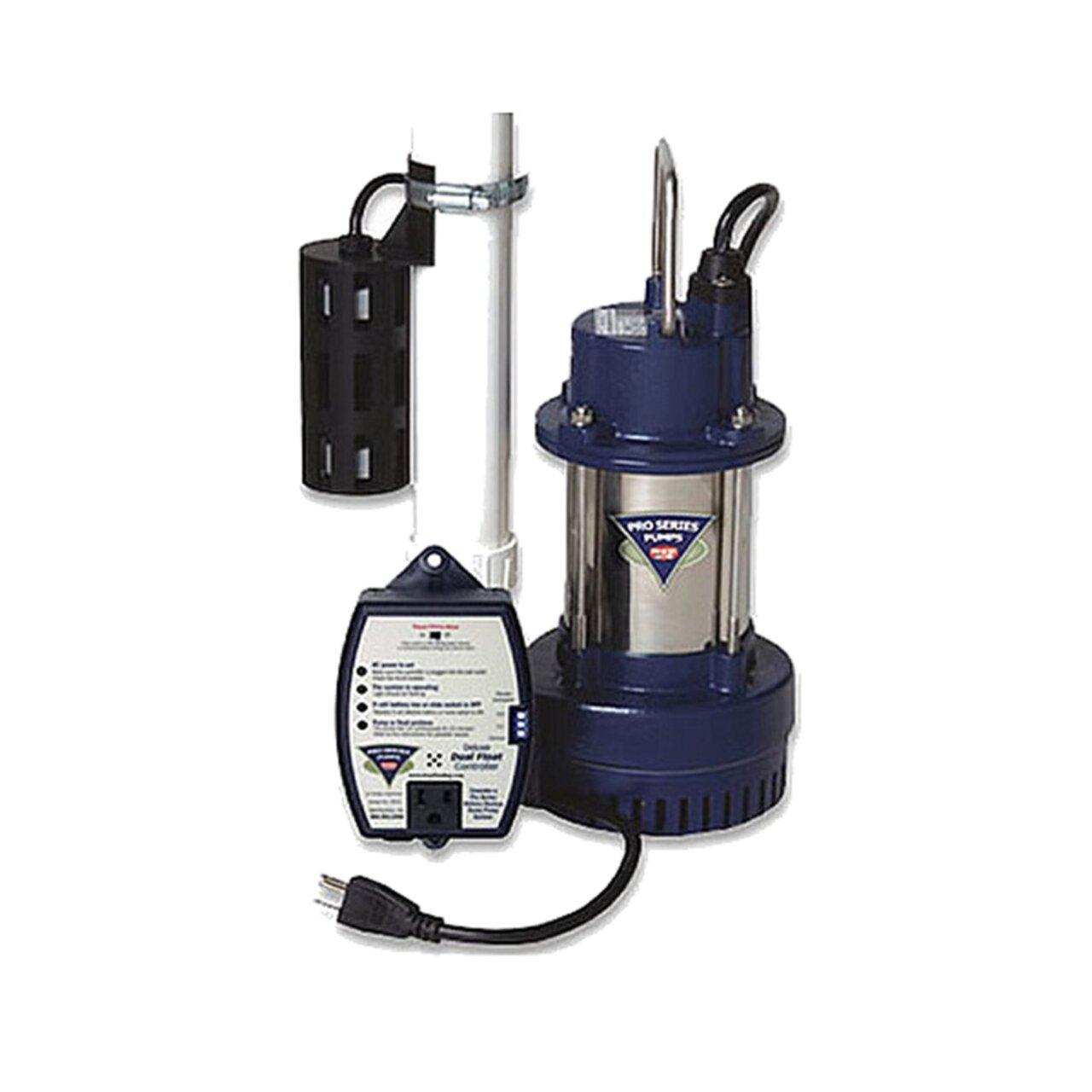Glentronics Inc S3033 PHCC Pro Series 1//3 HP Sump Pump System 3000 Gallon Per Hour