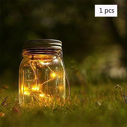 ailier Jarra Luces Solares Mason Cambio de color Tapa Luces de Hada Luz, LED para
