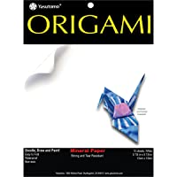 """Yasutomo Fold 'EMS Origami Paper (10 Pack), 5.875"""", Mineral White"""