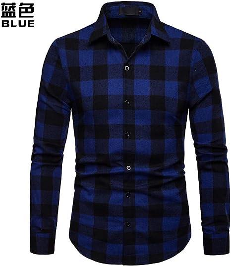 CHENS Camisa/Casual/Unisex/M Camisa de Hombre Camisa de Manga Larga Vestido de Hombre Camisas a Cuadros Casual Moda Negocio Camisas de Estilo clásico: Amazon.es: Deportes y aire libre