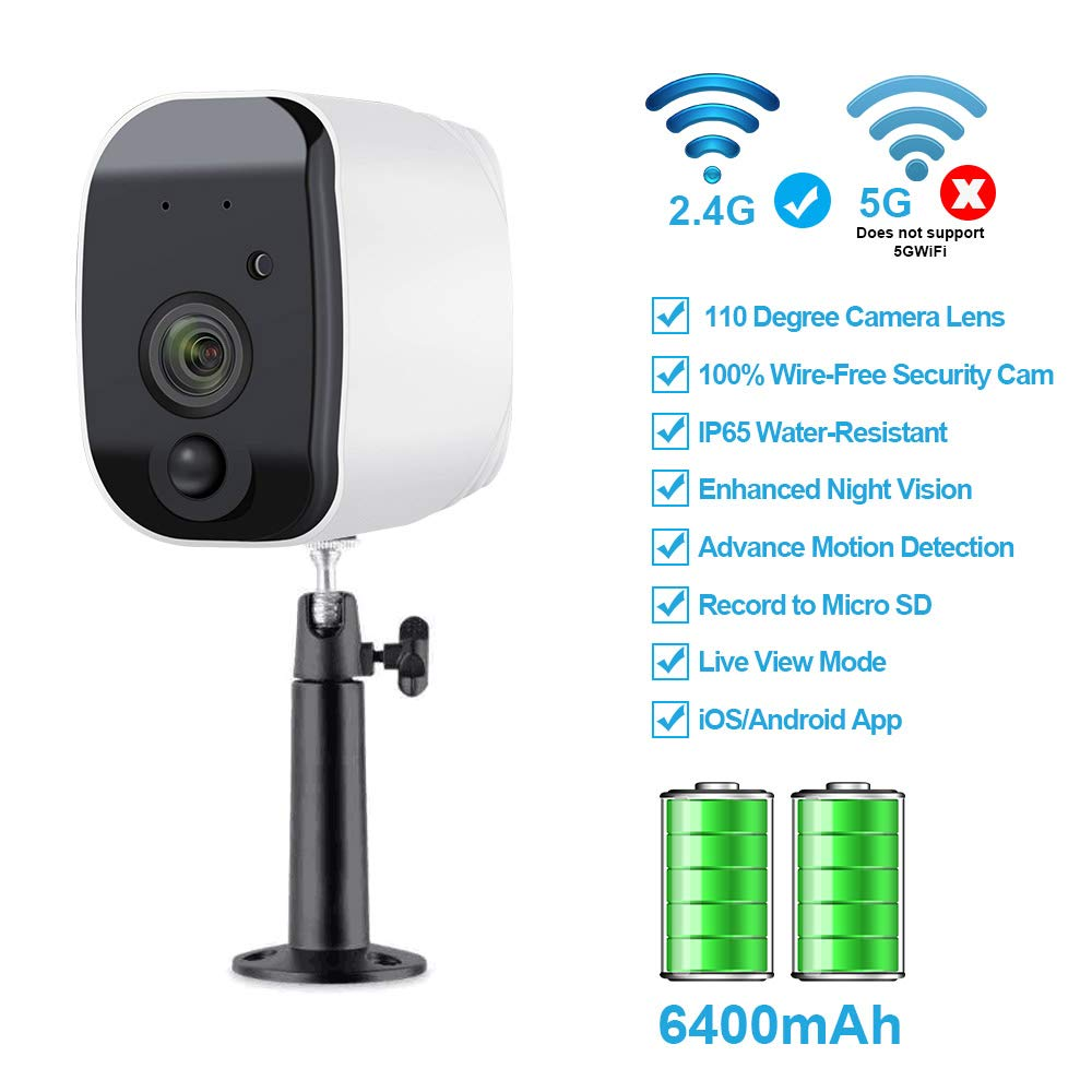 Fuvision Battery Powered Outdoor Security Camera,Wire-Free Waterproof Surveillance IP Camera with Motion Detection,Two-Way Audio,Wide Angle Camera,Faster Alert and Strong Night Vision by FUVISION