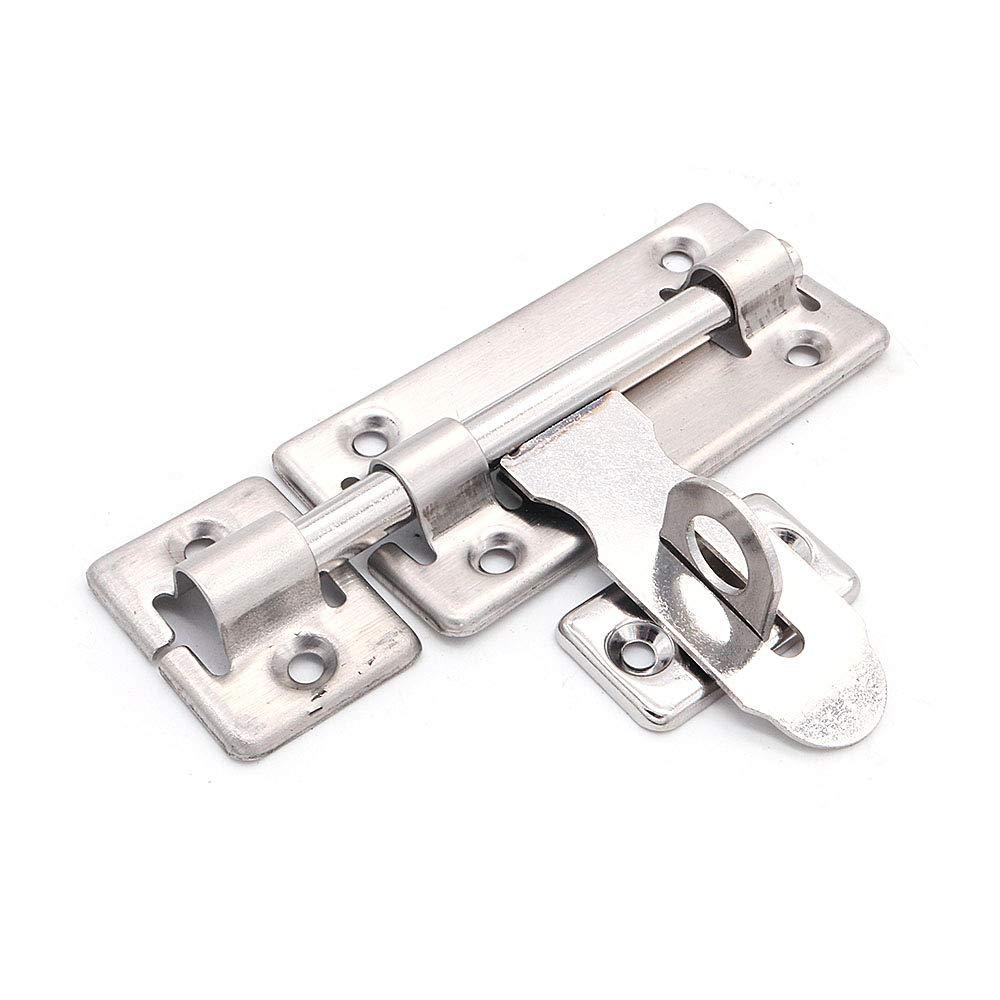 in acciaio INOX cancello per animali domestici mobili lucchetto di sicurezza NUZAMAS per porte di bagno Set di 10 chiavistelli per porte da 100 mm con cuscinetto scorrevole WC