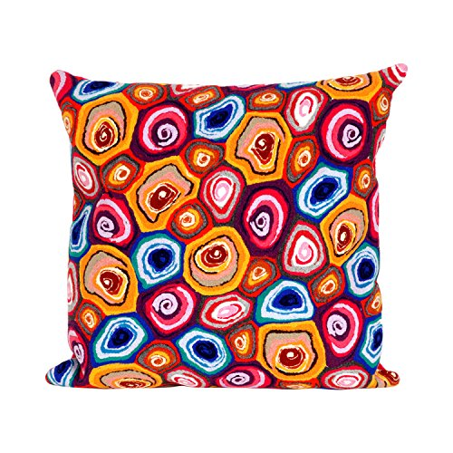 Mystic Jewel (Liora Manne 7S02SA38644 Mystic III Agate Jewel Indoor/Outdoor Pillow)