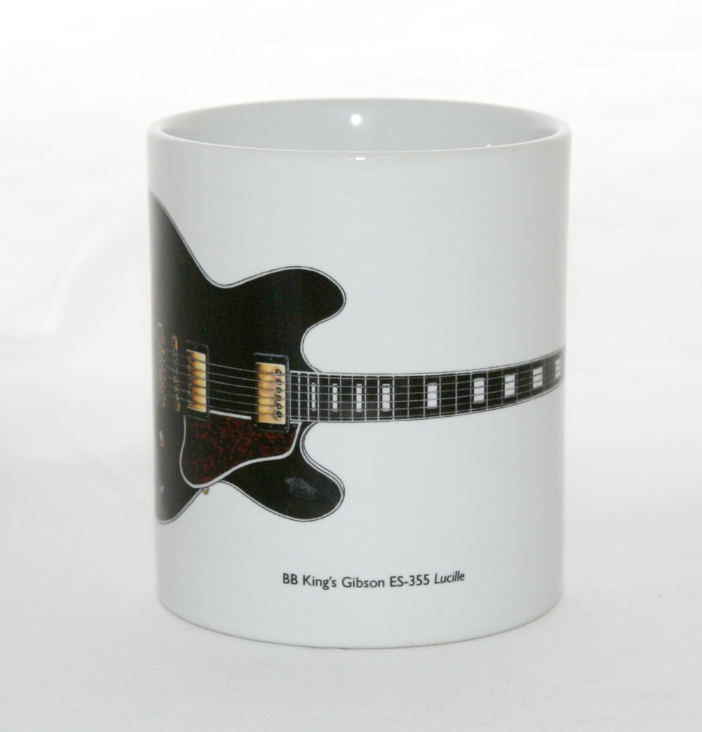 George Morgan Illustration Taza de Guitarra Gibson ES-355 Lucille ...