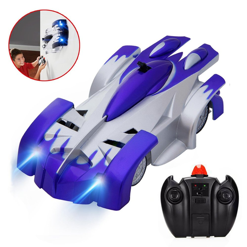 Joyjam Toys for 5-8 Year Old Boys, Wall Climbing Car RC Cars Electric Stunt Vehicle Race Car, Boys Kids Toys 6-10 PQC Blue