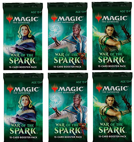 6 (Six) Booster Packs of Magic: The Gathering: War of The Spark (6 Pack - WAR Booster Draft Lot) (Magic The Gathering Booster Packs For Sale)