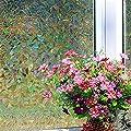 Yanqiao 3D Premium No-Glue Static Decorative Privacy Window Films,17.7x39.4inch.(45 x 100Cm)