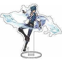 Karakter Stand Model, Anime Genshin Impact Kaeya 16cm Figuur Staande Teken Cartoon Afbeelding Display Accessoires…
