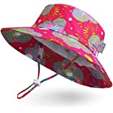 Ami&Li tots Adjustable Outdoor Sun Hat Water-Proof Bucket Boonie Fishing Cap for Baby Toddler Kids UPF 50