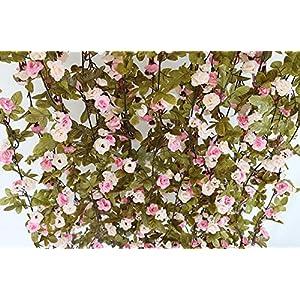 Otamise 2Pcs Artificial Fake Wisteria Vine Ratta Hanging Garland String Home Party Wedding Decor Silk Flowers 97