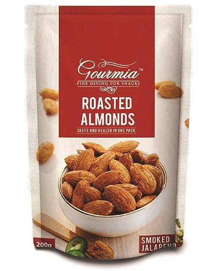 Gourmia Roasted Almonds, Smoked Jalapeno, 200g