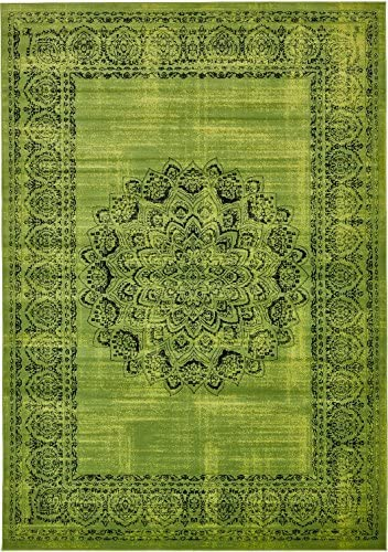Luxury Modern Vintage Inspired Overdyed Area Rugs Sage Green 8 x 11 6 FT Artis Designer Rug Colorful Craft Rugs and Carpet