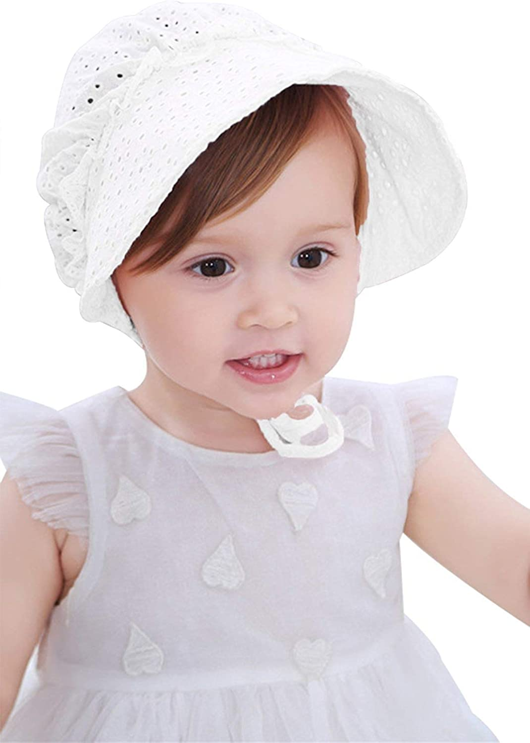 Aniwon Baby Summer Hat Infant Sun Cap Breathable Flower Bowknot Baby Lace Cap Outdoor Hat for Baby