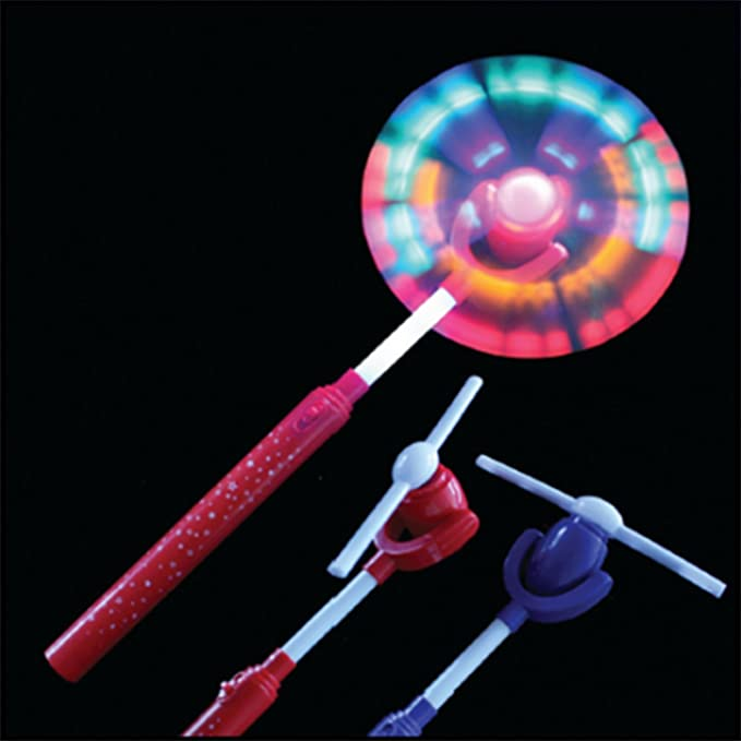 Chic Swivel Fan Wand LED Sensory Toy Rainbow Windmill Light Flashing For Autism