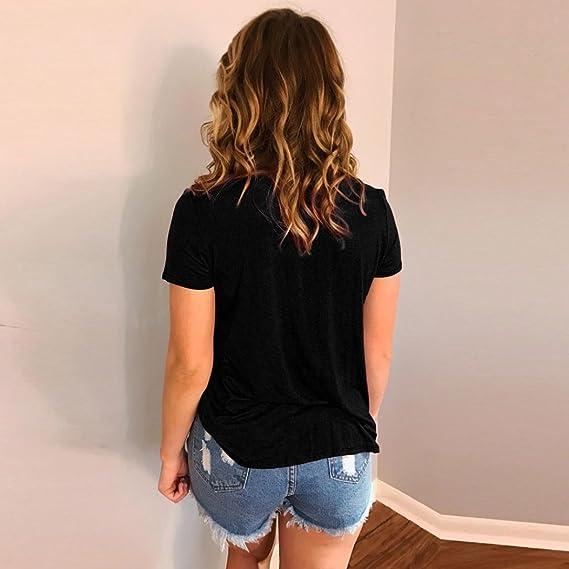 Amazon.com: DondPO Summer Womens Short Sleeve T Shirts Lady Loose Sexy V Neck Casual Blouse Shirt Tops: Clothing