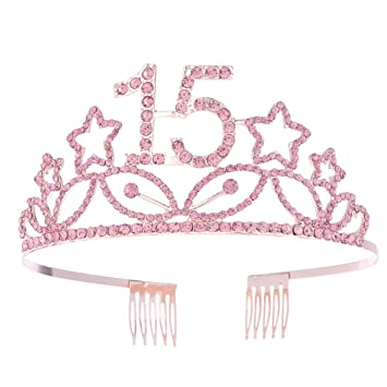 Beaupretty Corona Cumpleaños 15 Años Diadema Cumpleaños ...