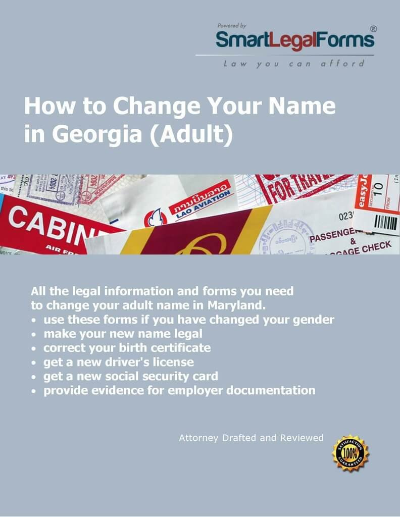 GA Adult Name Change [Instant Access] by SmartLegalForms, Inc.