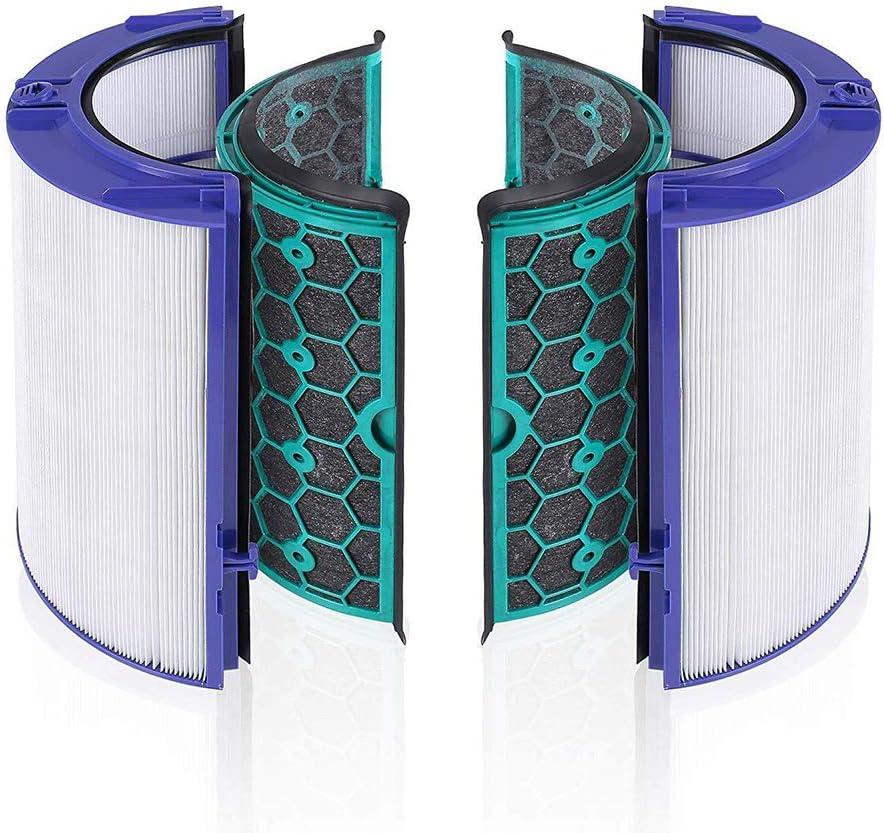 LZH FILTER Filtro HEPA de Repuesto Compatible con Dyson HP04 TP04 DP04 Sistema de Filtro Sellado de Dos etapas 360° Ventilador purificador de enfriamiento Puro: Amazon.es: Hogar