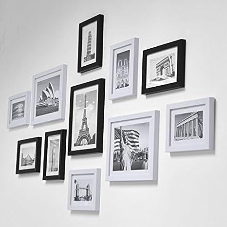 68pcs Marco de foto Kit de ganchos colgantes, Kit de suspensión de cuadros, Marco de foto Kit colgante, con tornillos, Reloj de mapa de mapas Espejo de ...