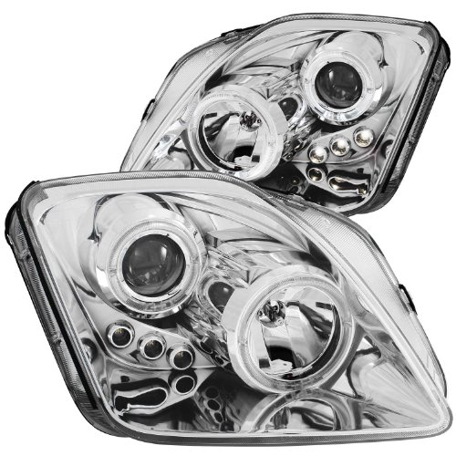AnzoUSA 121342 Chrome Clear Projector Halo Headlight with LED for Honda Prelude - (Sold in Pairs)